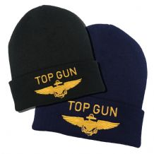 Top Gun Gold Embroidered Beanie Hat